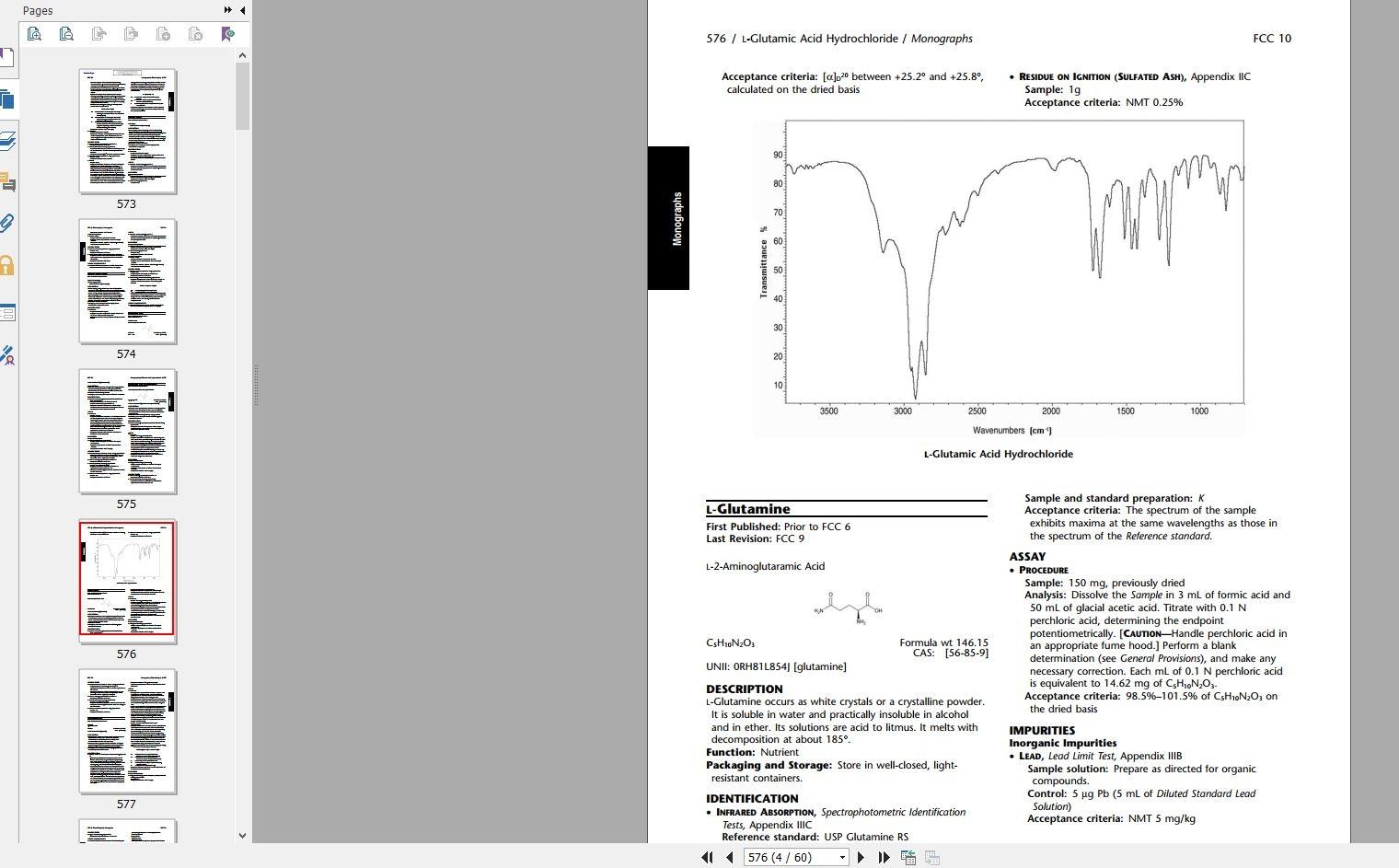 food chemical codex free download pdf