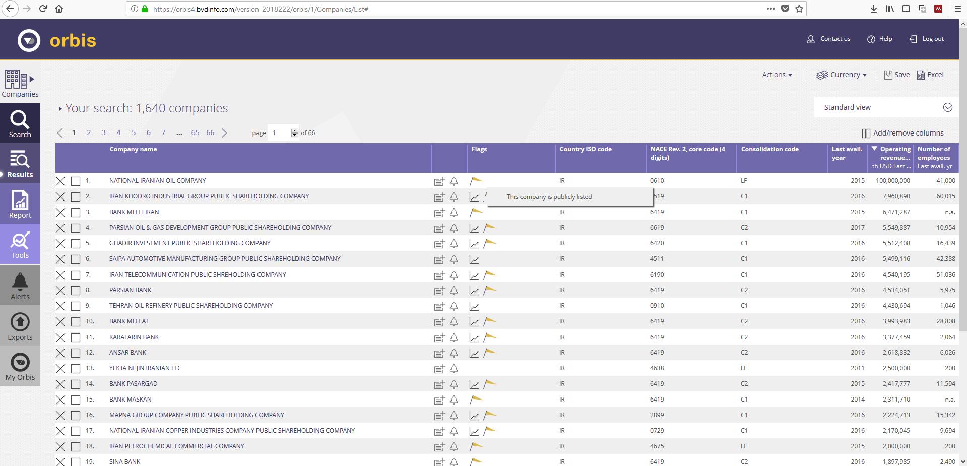 اکانت Orbis | دسترسی به Orbis | پسورد اوربیس | جستجوی Company های ایران در سایت Orbis گیگاپیپر