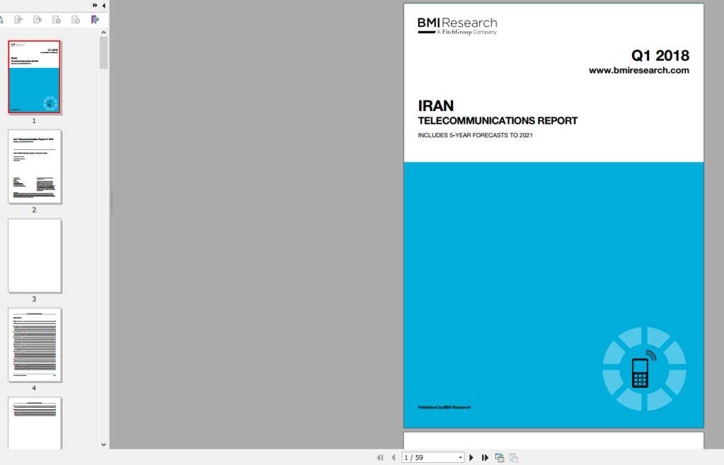 گزارش 2018 بیزینس مانیتور از Telecommunications ایرانگیگاپیپر