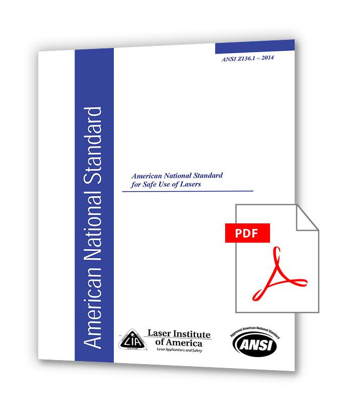 دانلود استاندارد ANSI Z136.1 (2014) - Safe Use of Lasers خرید استاندارد
