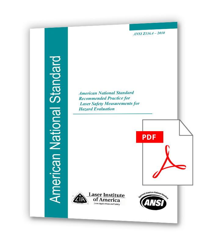 دانلود استانداردهای LIA Z136 خرید استاندارد ANSI Z136.4 (2010) - Recommended Practice for Laser Safety Measurements