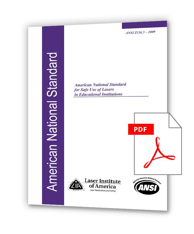 دانلود استانداردهای LIA Z136 خرید استاندارد ANSI Z136.5 (2009) - Safe Use Of Lasers In Educational Institutions