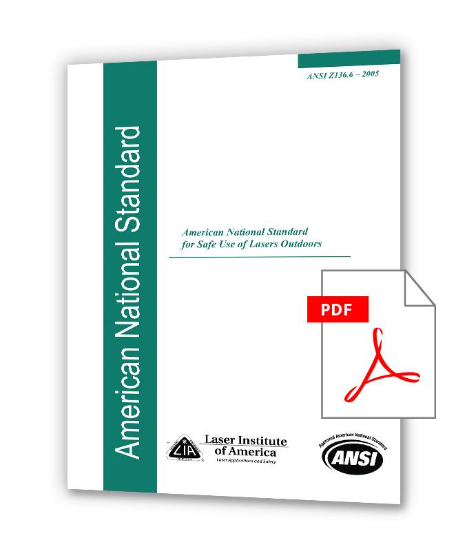 دانلود استانداردهای LIA Z136 خرید استاندارد ANSI Z136.6 (2015) - Safe Use Of Lasers Outdoors