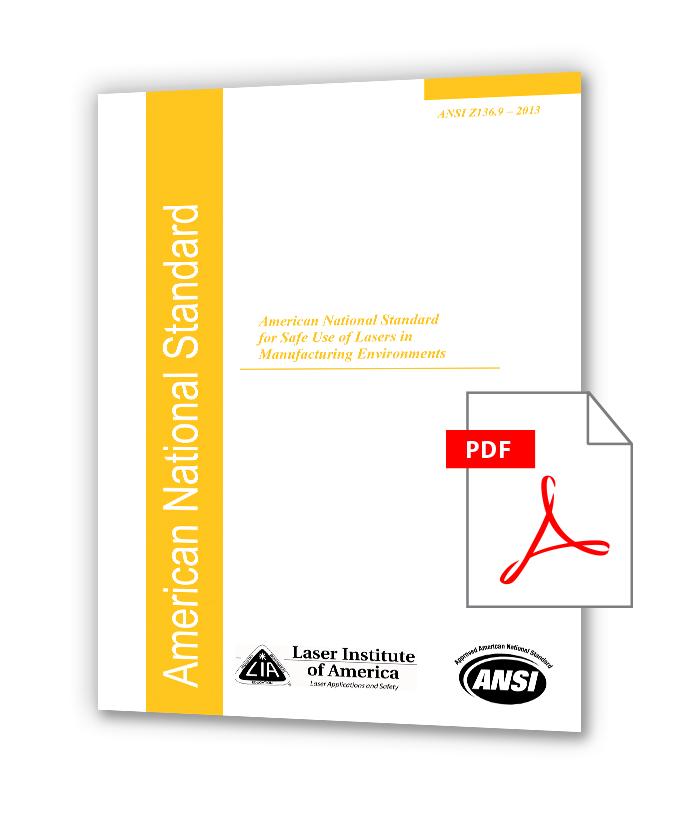 دانلود استانداردهای LIA Z136 خرید استاندارد ANSI Z136.9 - Safe Use of Lasers in Manufacturing Environments