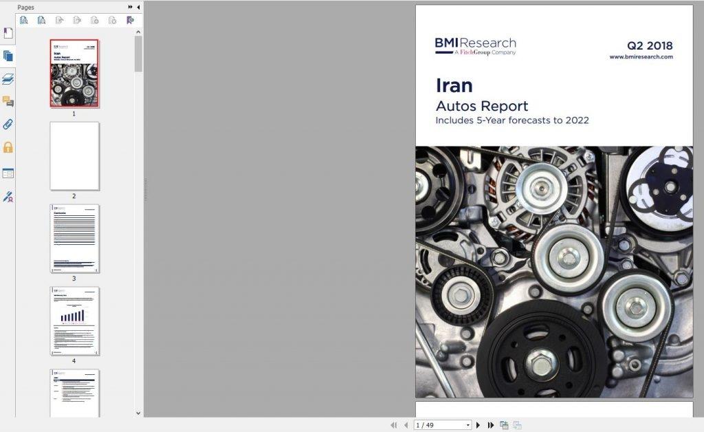 گزارش خودرو ایران Iran Autos Report دانلود BMI Iran Autos Report Q2 2018 خرید گزارشهای تحلیلی BMI Research از ایران گزارش بیزینس مانیتورگیگاپیپر