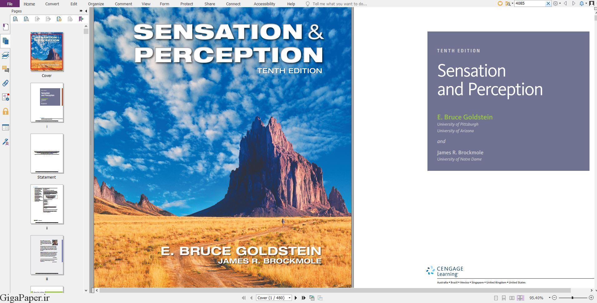 خرید کتاب زبان اصلی خرید کتاب از امازون amazon.com ، گوگل بوکز دانلود کتاب خارجی Sensation and Perception 10th Edition دانلود کتاب Sensation and Perception