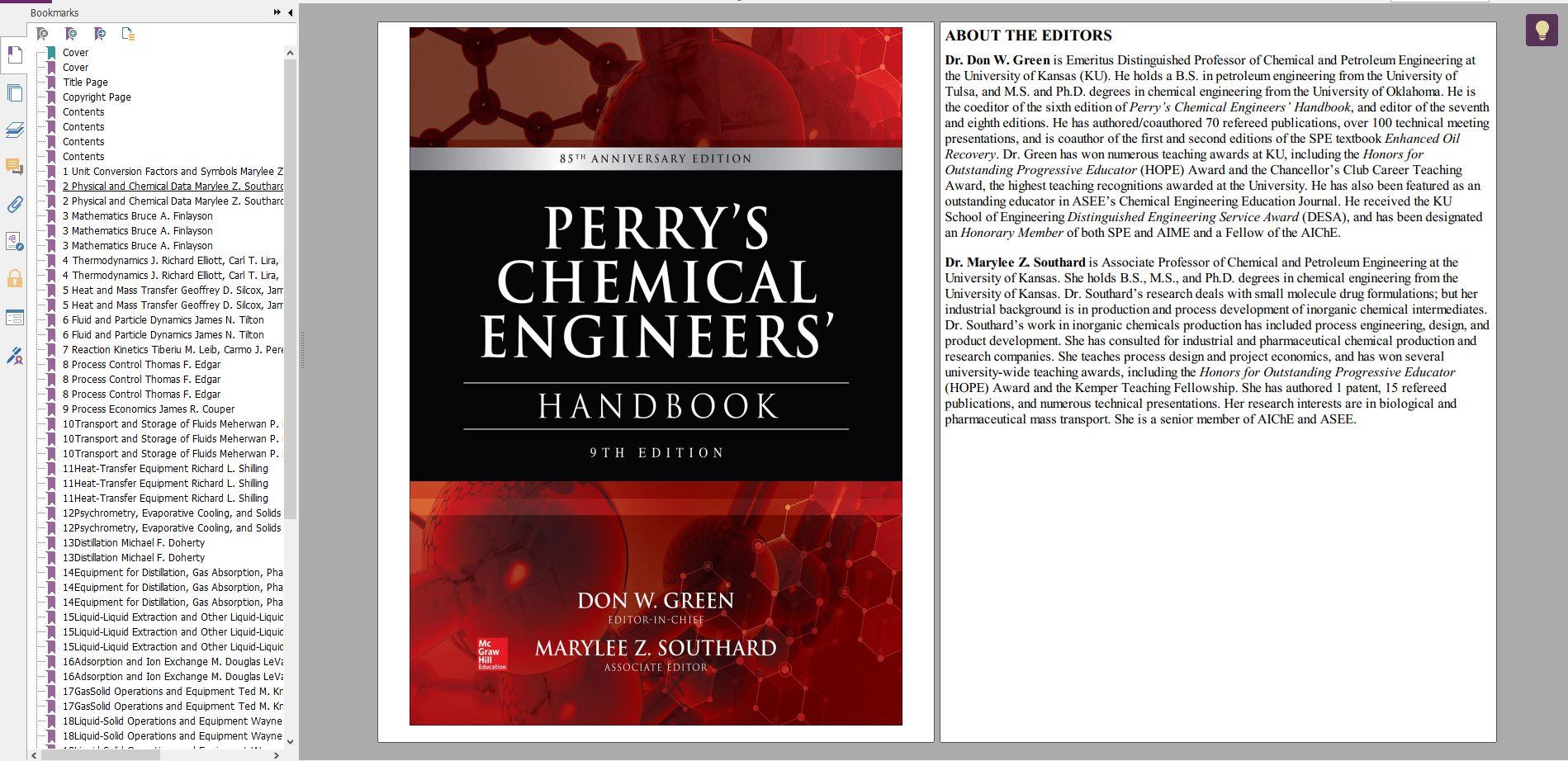 دانلود کتاب هندبوک مهندسی شیمی پری