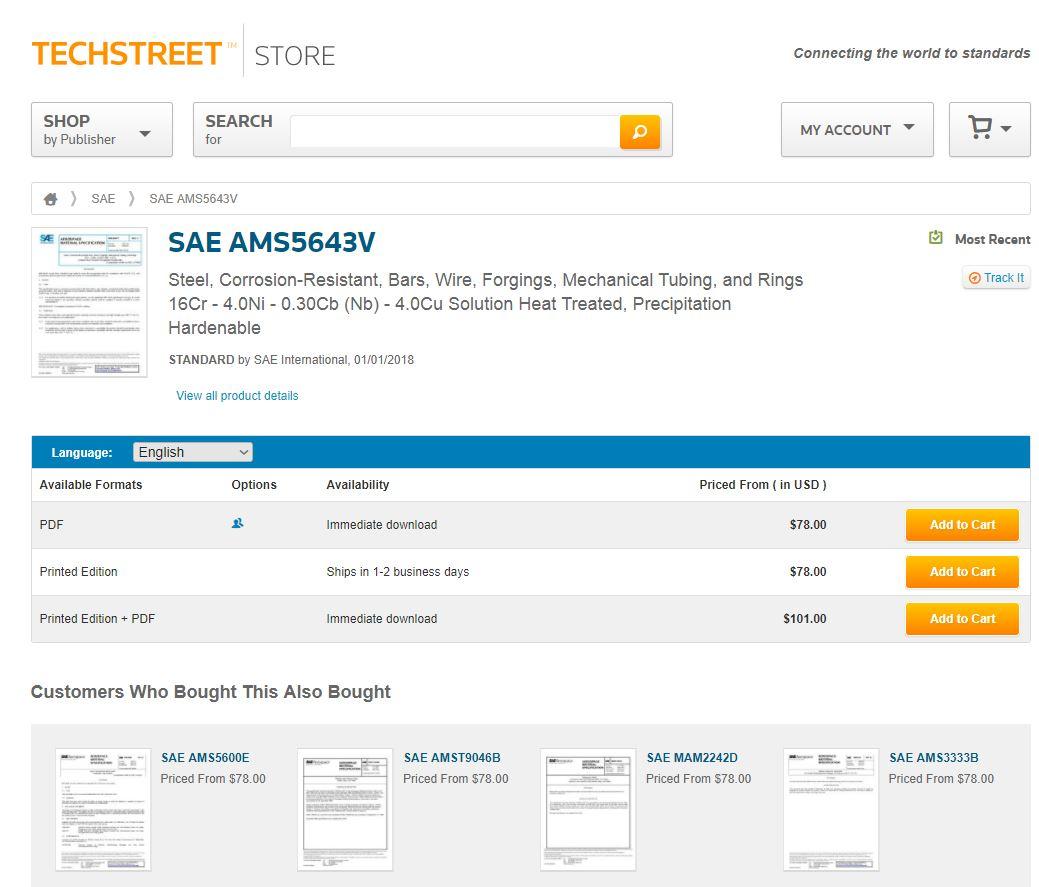 نام استاندارد، شماره استاندارد ، سال انتشار در سایت TechStreet.com | مجموعه کامل استاندارد | فروش استاندارد | دانلود رایگان استاندارد